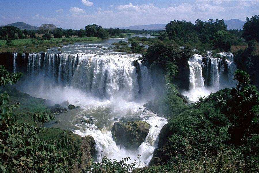Blue Nile Falls - Town of Bahir Dar and Lake Tana
