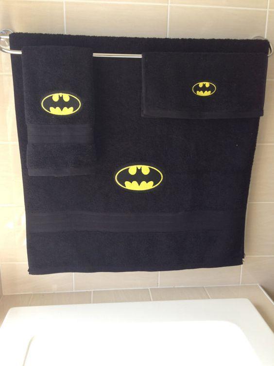 Batman towel set Batman Pinterest Batman, Batman bathroom and