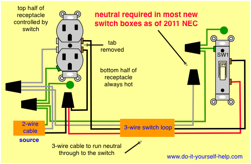 wiring a receptacle with switch wiring diagrams sign 3 wire smoke detector wiring wire and 3 wire lighting systems