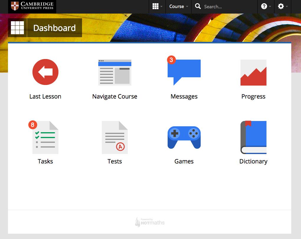 Dashboard, Cambridge International Maths Online: a comprehensive ...