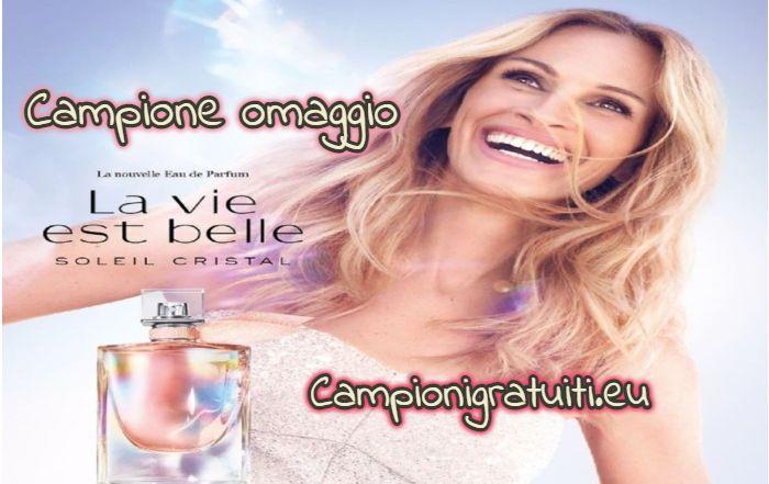 Campione Gratuito Profumo La Vie Est Belle Soleil Cristal offerto da Lancome
