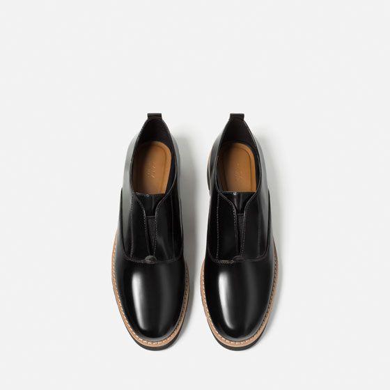 Zdjecie 5 Buty Derby Na Platformie Z Elastycznymi Wstawkami Z Zara Blue Shoes Shoes Boots Store