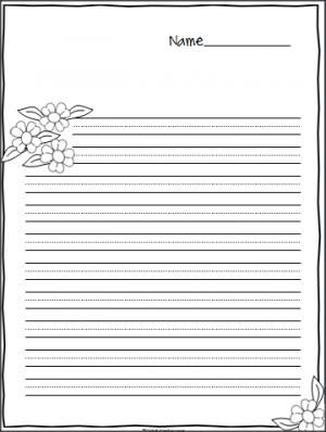 Flower Writing Paper Large Print Practice Lines Madebyteachers Writing Paper Printing Practice Lined Writing Paper