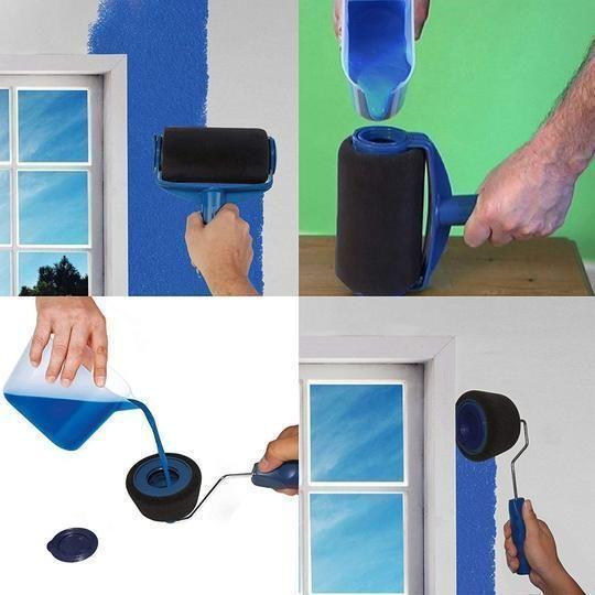 Ez Paint Multifunctional Paint Roller Pro Kit Paint Roller Roller Brush Paint Runner