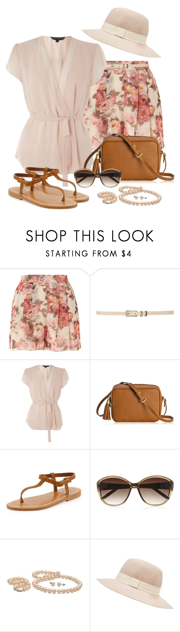 """Floral print shorts"" by snickersmother ❤ liked on Polyvore featuring Jane Norman, M&Co, French Connection, GiGi New York, RGB, K. Jacques, M&S and Witchery"