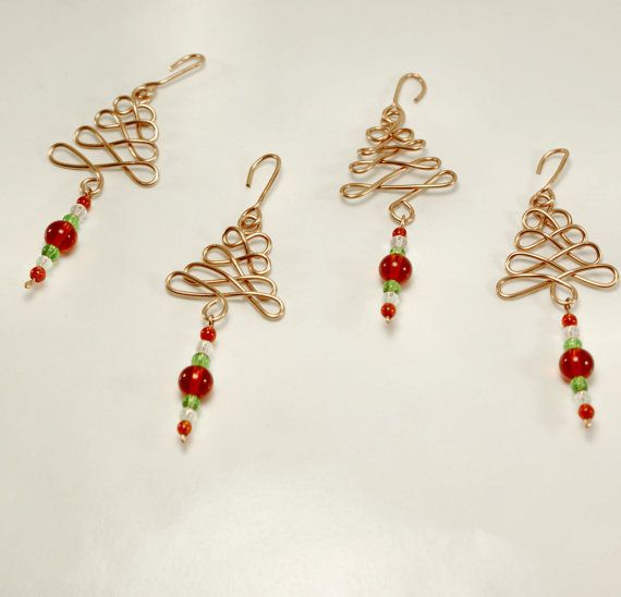 day wire bead Christmas Ornaments | Copper Beaded Wire Christmas ...