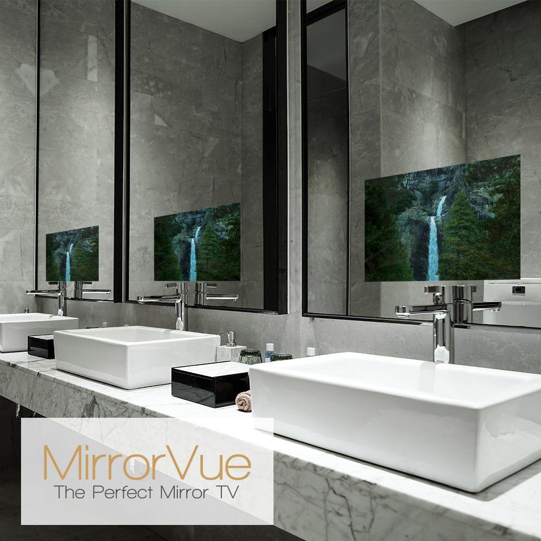Mirrorvue Mirror Tv Mirror Tv Bathroom Mirror Luxury Bathroom [ 1080 x 1080 Pixel ]