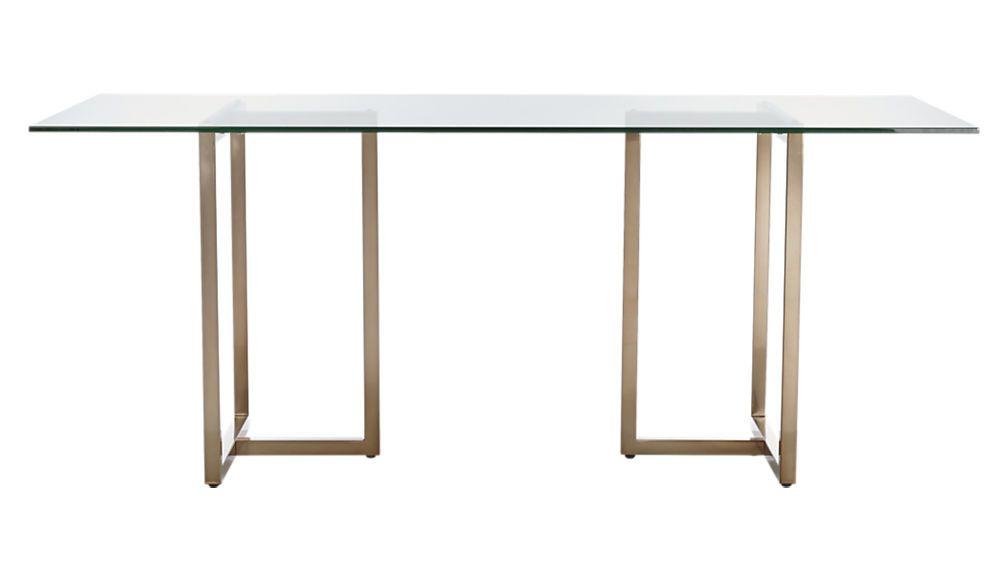 Remarkable Silverado Brass 80 Rectangular Dining Table Dining Room Creativecarmelina Interior Chair Design Creativecarmelinacom
