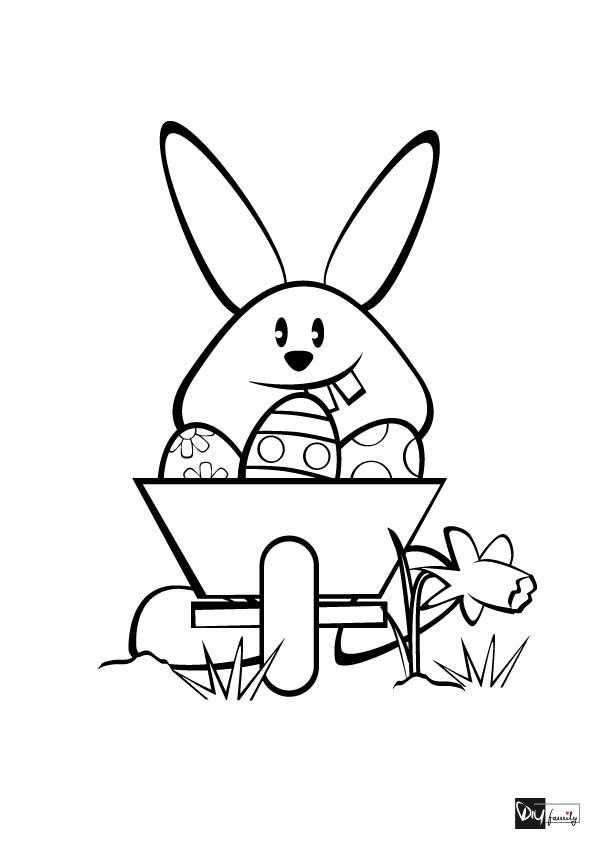 Ausmalbild Fur Ostern Malvorlagen Osterhase Mit Schubkarre Lustige Malvorlagen Vorlagen Osterhase