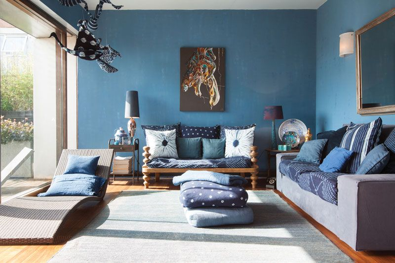 Azul Verao Modern Living Room Interior Blue Living Room Blue Living Room Decor
