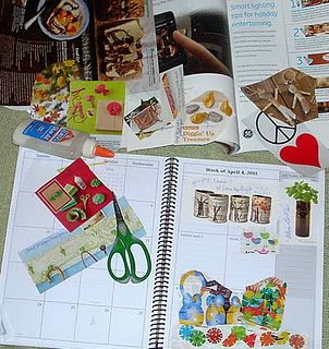 Reuse old planners calendars to make craft idea books for How to reuse old books