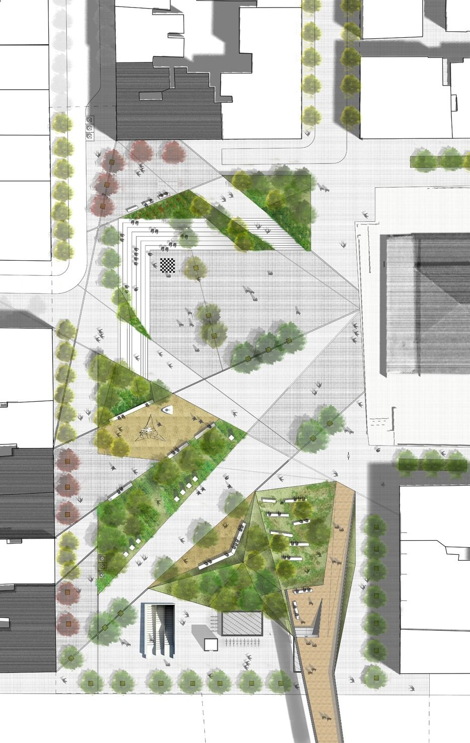 Thessaloniki public square redesign proposal design g for Garden design proposal