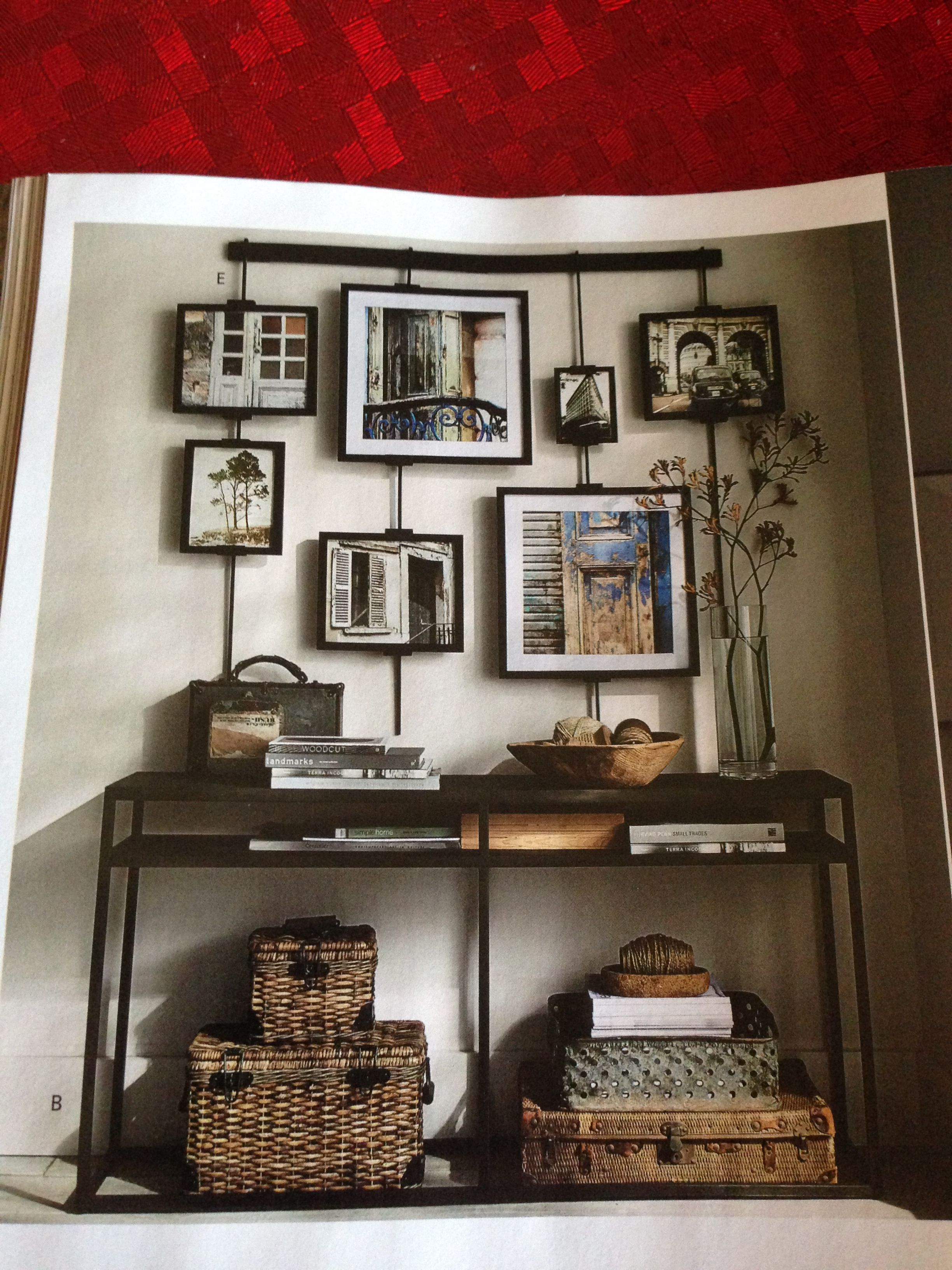 Pottery Barn Photo Collage Wall Easel Photo Wall Collage