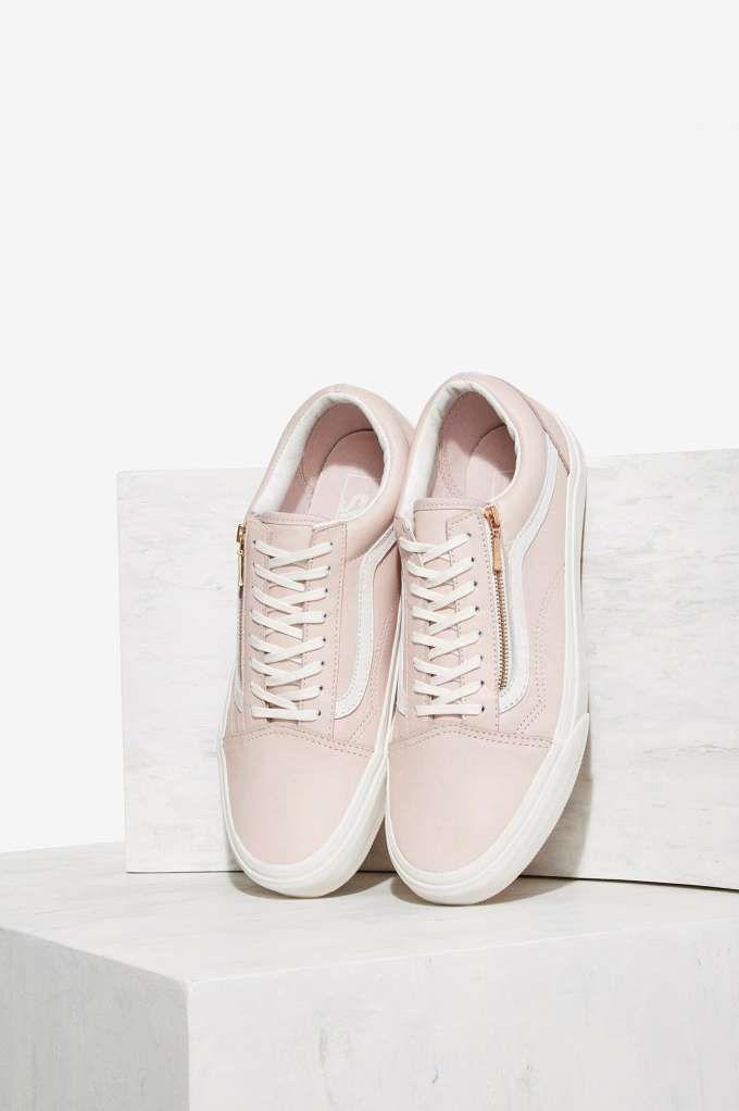 old skool zip vans pink