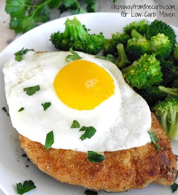 Enjoy This Easy Low Carb Chicken Schnitzel That Is Served Topped