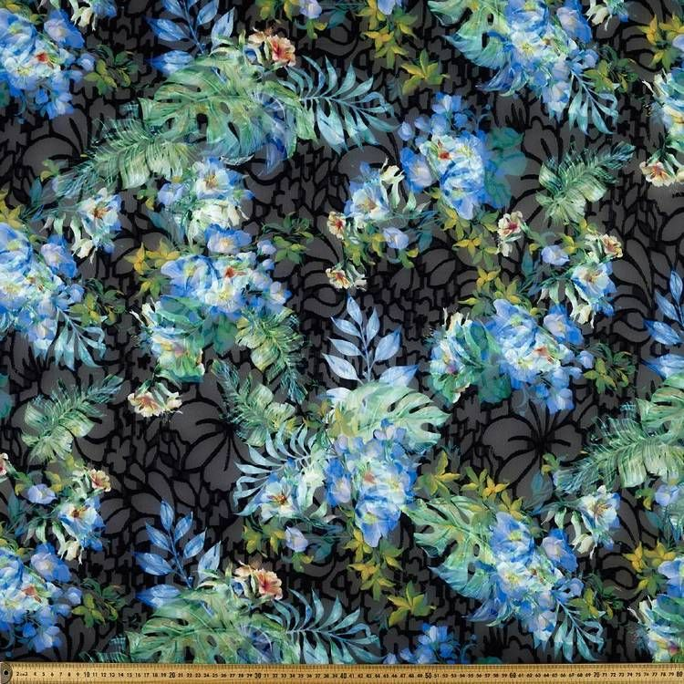 Tropical Burnout Fabric Apparel Fabric Silk Fabric