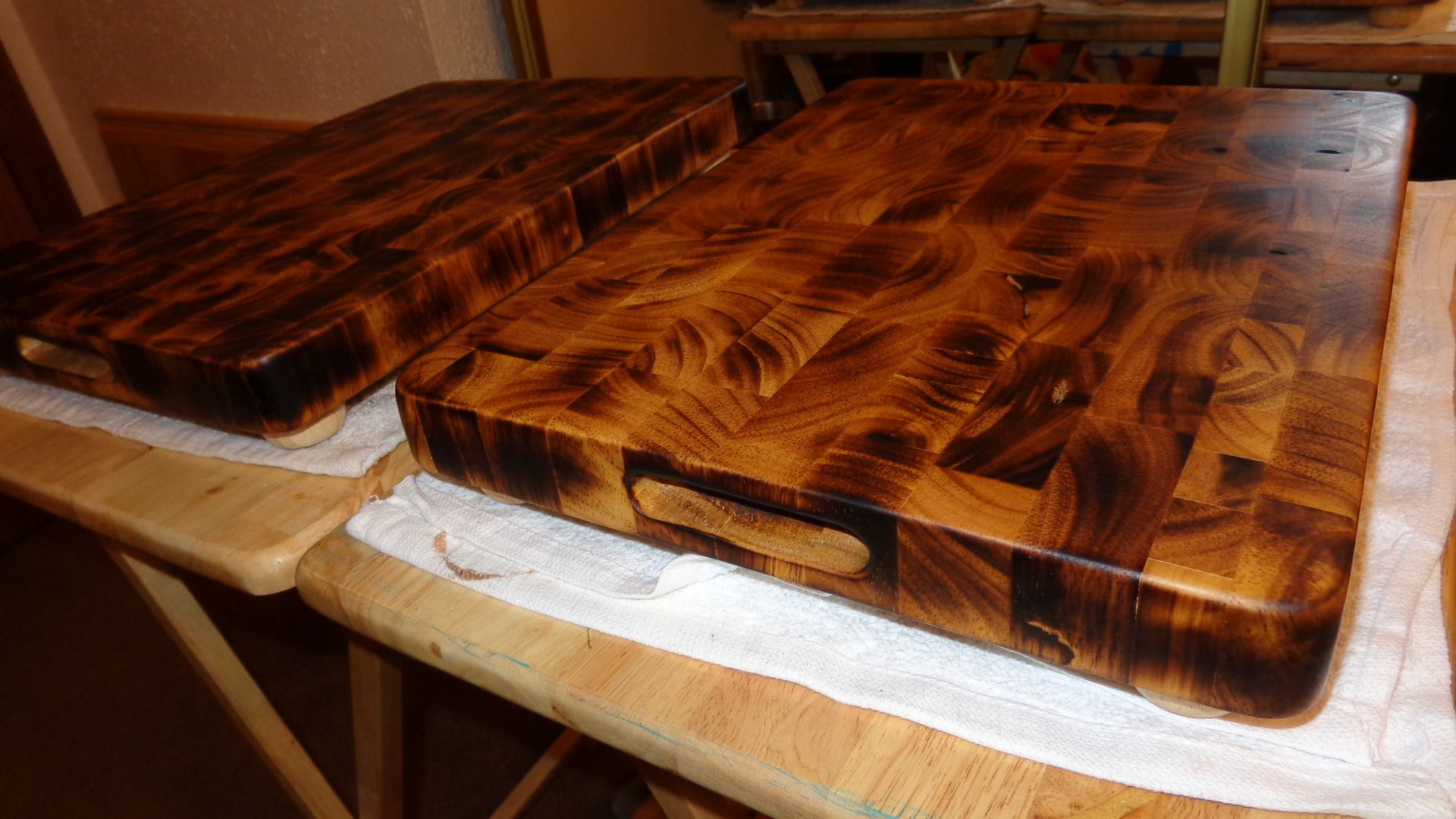 Wood Burned End Grain Butcher Block Burnt Offering Edition By