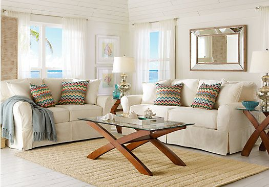 Cindy Crawford Beachside Sofa The Beachside White Contemporary Living Room Furniture With Thesofa