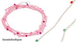 Free crochet jewelry video tutorial  #Crochet
