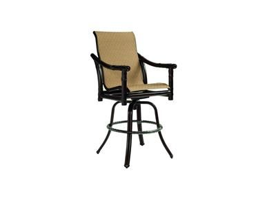 Shop for Castelle High Back Sling Swivel Bar Stool and other OutdoorPatio Stools at Pride Family Brands in Fort Lauderdale FL High Back Sling Swivel Bar