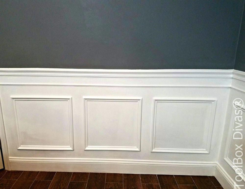 Diy Molding On Walls Picture Frame Molding Wall Using Install Moulding Budget Friendly Wainscoti Dining Room Wainscoting Dining Room Remodel Wainscoting Styles