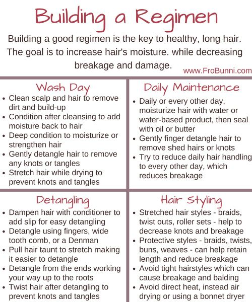 Building A Regimen With Images Natural Hair Regimen Hair