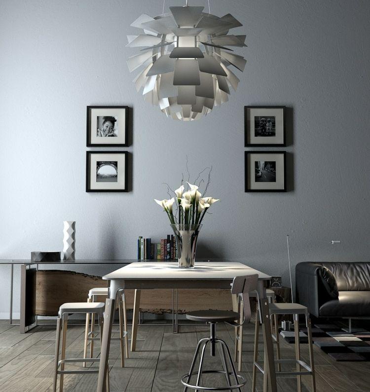 Kreative Wandgestaltung Bilder Esszimmer Deko Ideen Kronleuchter