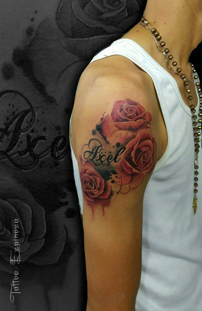 Tatuaje Flores Nombre Axel Tatuajes De Relojes Disenos De Unas Tatuajes