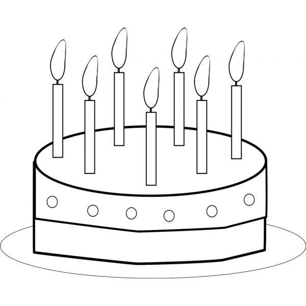 Torta Compleanno Stilizzata.Disegno Di Torta Buon Compleanno Da Colorare Buon Compleanno Compleanno Disegni