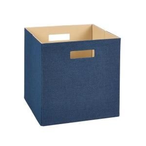 H Blue Large Decorative Storage Fabric Bin 7110 At The Home Depot Mobile