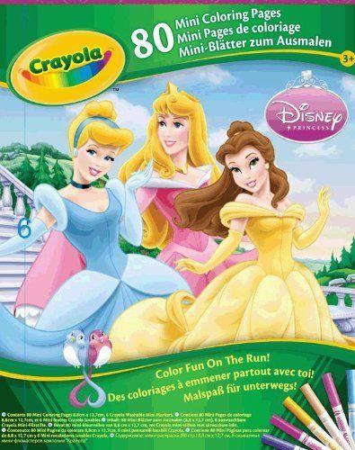 Crayola Mini Coloring Pages Disney Princess by Crayola 599