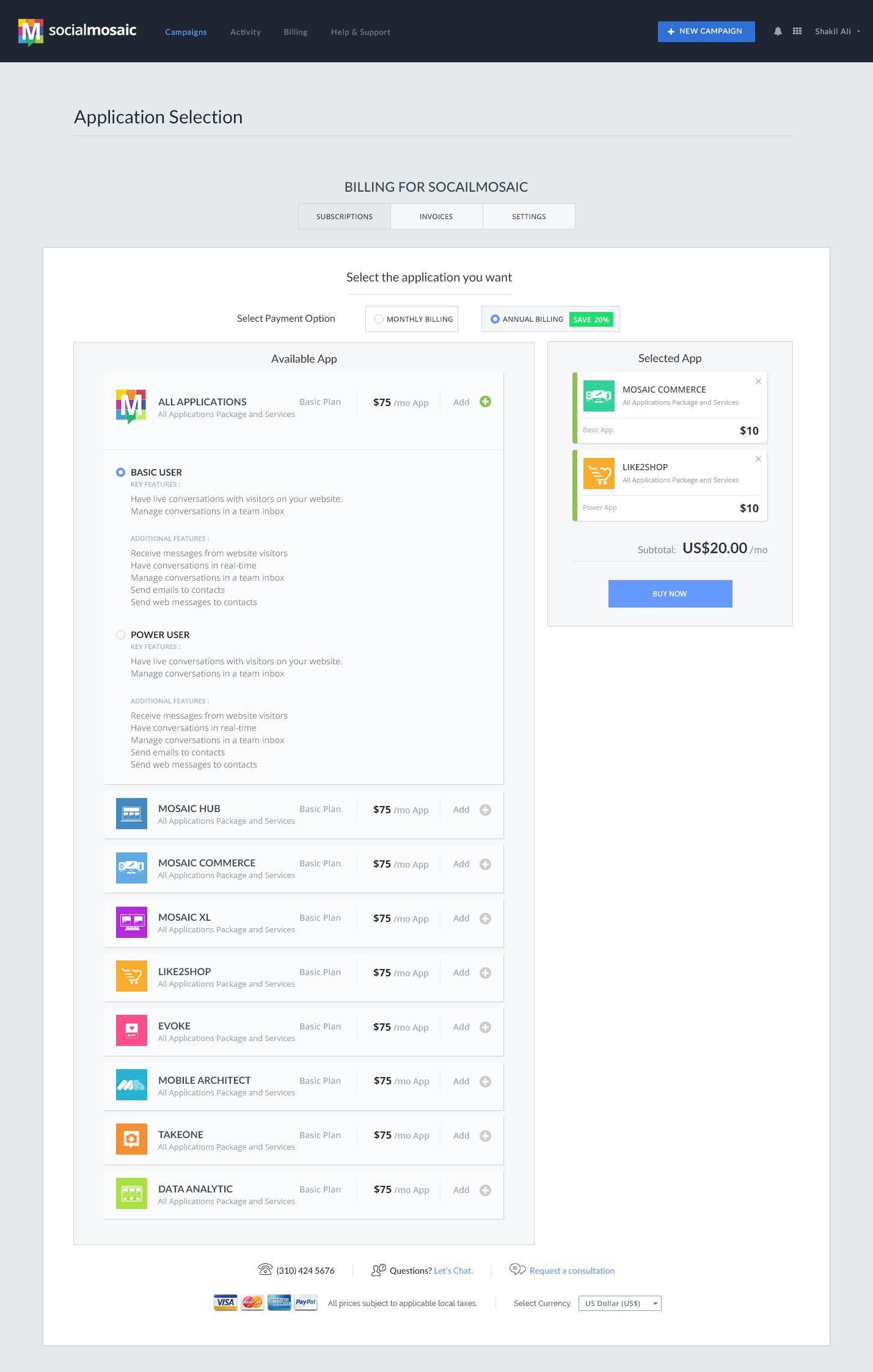 Application Selection V1 3 Jpg By Shakil Ali Web Design Website Inspiration Web Dashboard