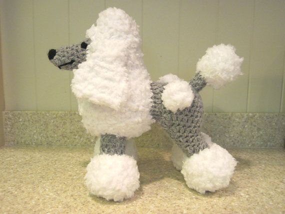 Crocheted Poodle Stuffed Animal Pattern Digital Download English
