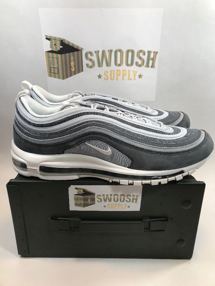 new styles d2ee8 093ff NIKE AIR MAX 97 PREMIUM WOLF GREY SUMMIT WHITE 312834-005 NEW SIZE 13 Nike  Athletic