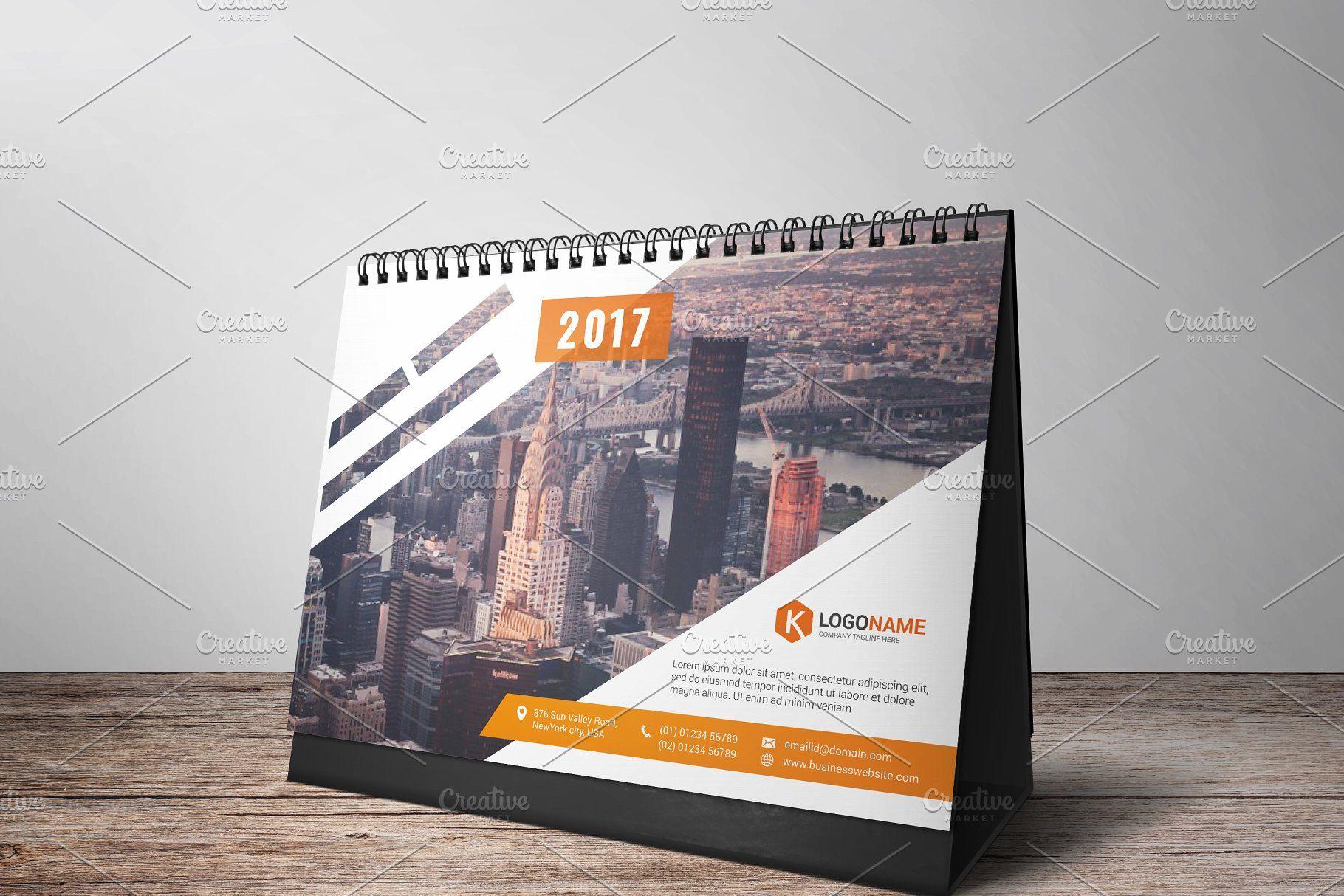 Desk Calendar 2017 Calendar Desk Templates Stationery Calender Design Calendar Design Company Calendars