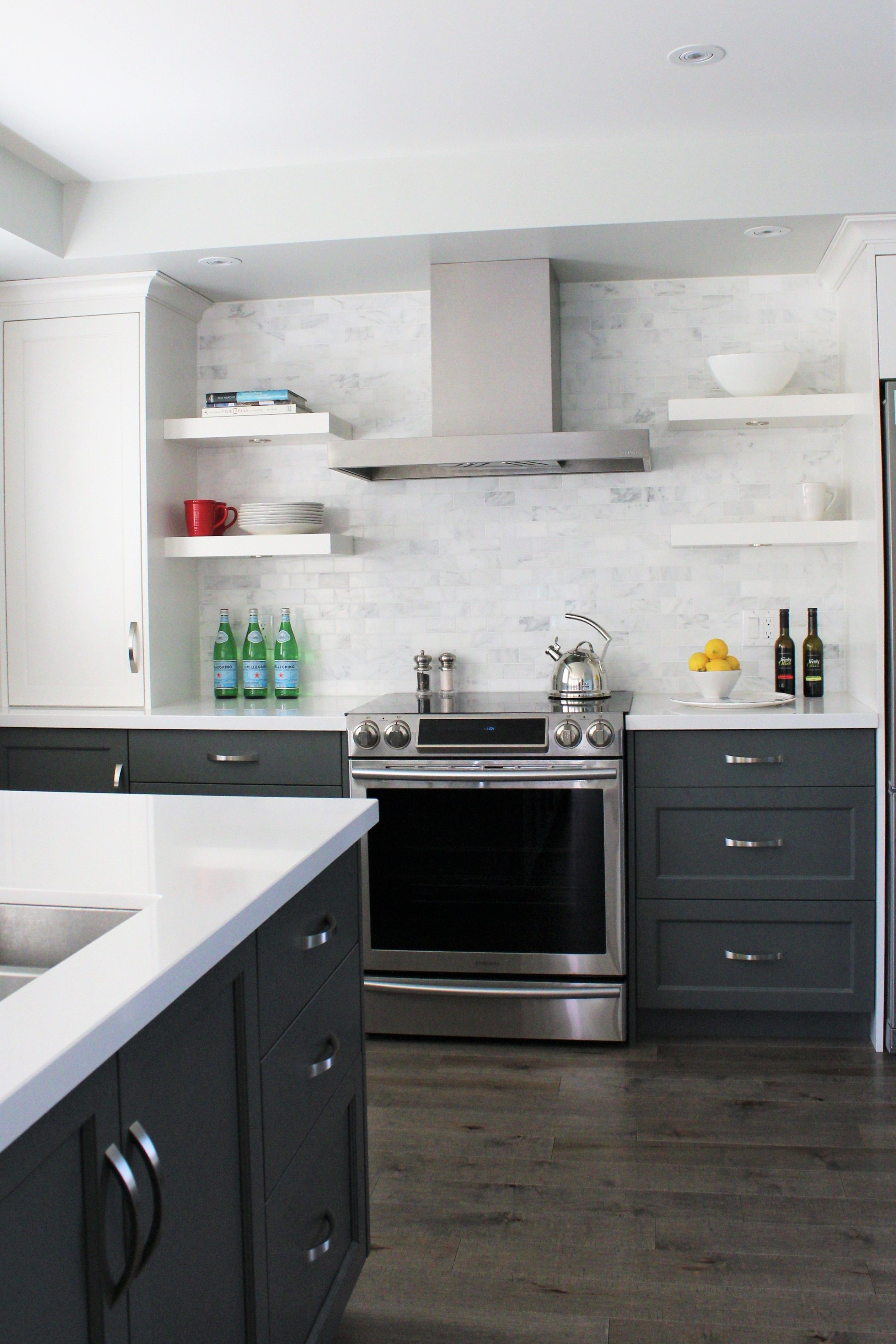 Modern Two Tone Kitchen Designed By Cranberry Hill Kitchens Kitchen Renovation Custom Kitchen Cabinets Kitchen Cabinets
