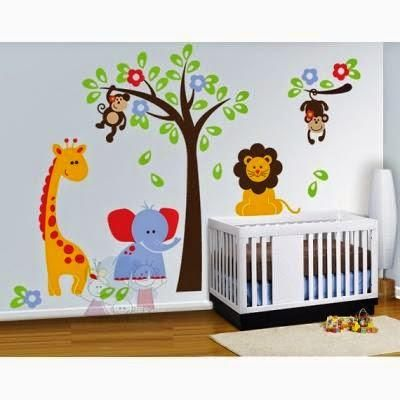 Decoración del cuarto de un bebé varón | Vinilos | Decorar ...