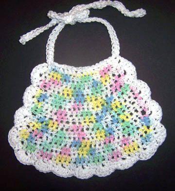 Baby Bib Free Crochet Pattern Crochet Baby Infant Pinterest