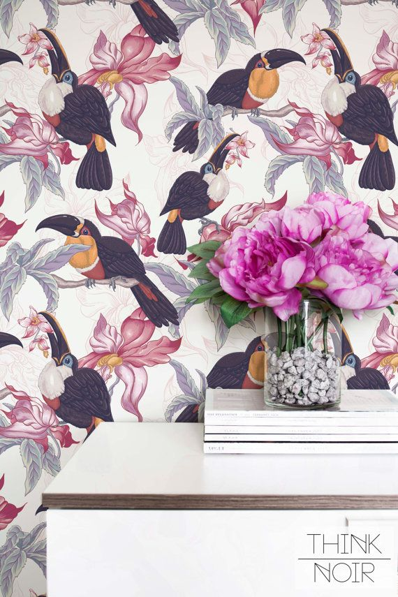 Tropic Leaf pattern in this year is one of the biggest trends so why not to make Your interior fabulous with ThinkNoir leaf and toucan pattern wallpaper .