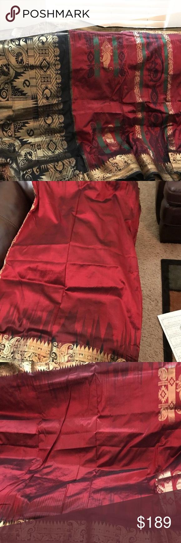 Pure silk saree 2018 kanjivaram silk sari with stitched blouse astonishingly beautiful