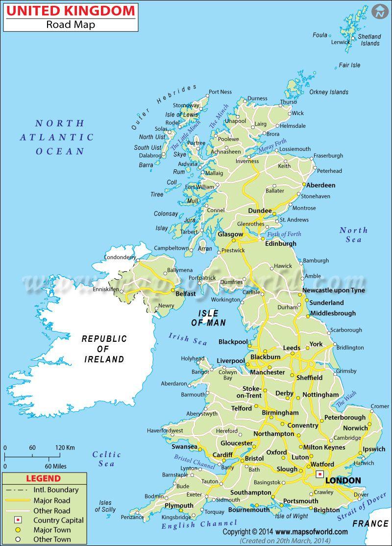 UK Road Map Maps Pinterest - Florida map inverness