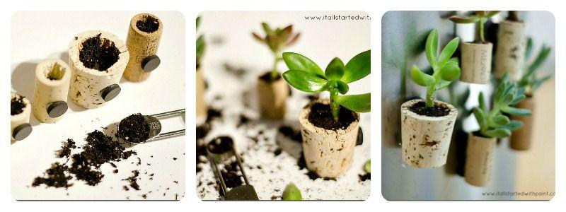 imanes nevera con plantas