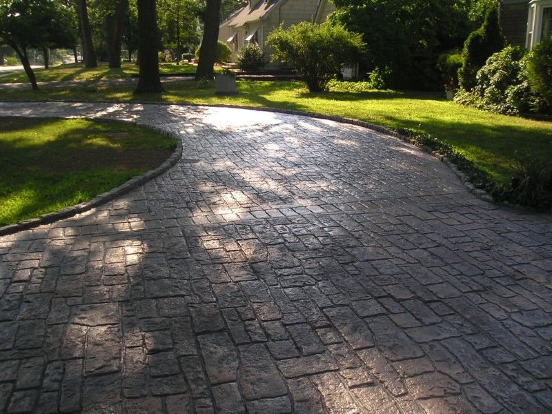 explore stamped concrete driveway and more