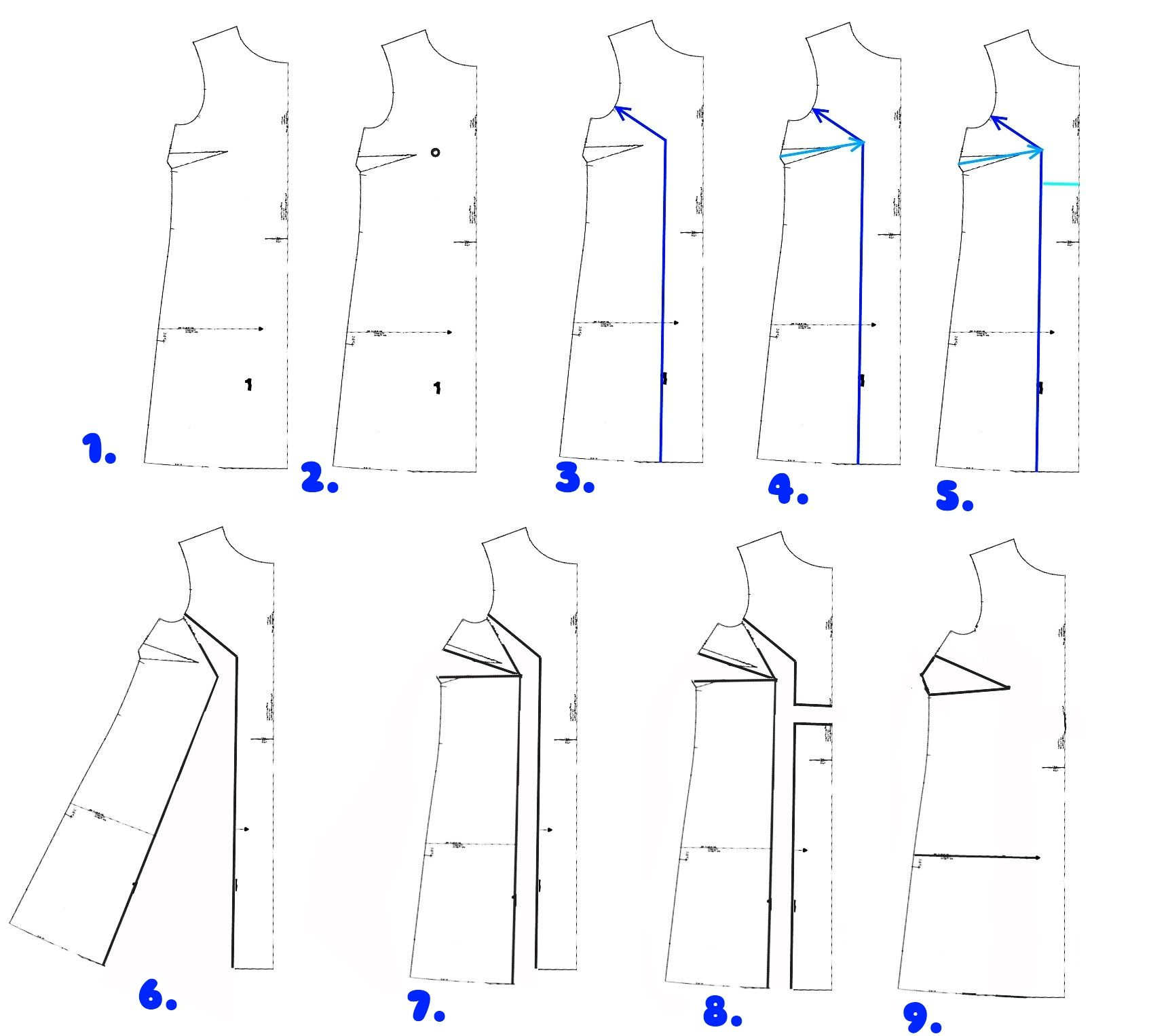 How to do a Full Bust Adjustment on a shift dress. Good
