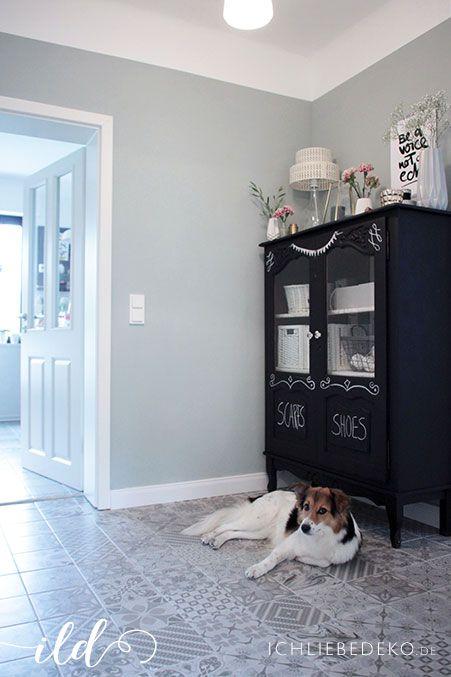 wandgestaltung mit alpina flur wohnzimmer im neuen look haus pinterest feine farben. Black Bedroom Furniture Sets. Home Design Ideas