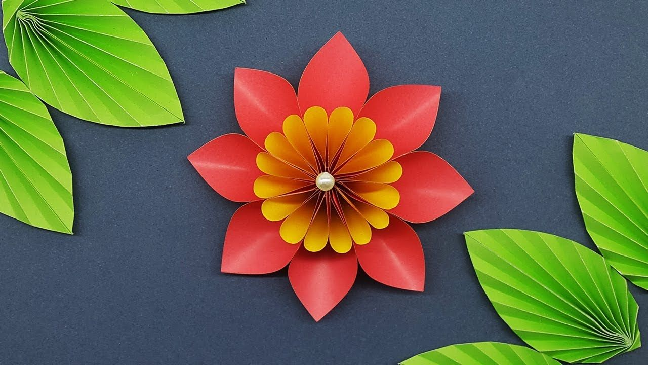 How To Make Easy Paper Flower Making Paper Flowers Step By Step Diy Paper Crafts It S A Complete Vi Paper Flowers Craft Paper Flower Tutorial Flower Crafts