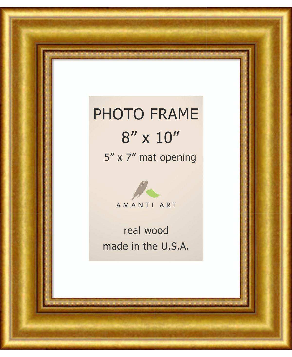Amanti Art Townhouse Gold 8 X 10 Matted To 5 X 7 Opening Wall Picture Photo Frame Amanti Art Photo Frame Picture Wall