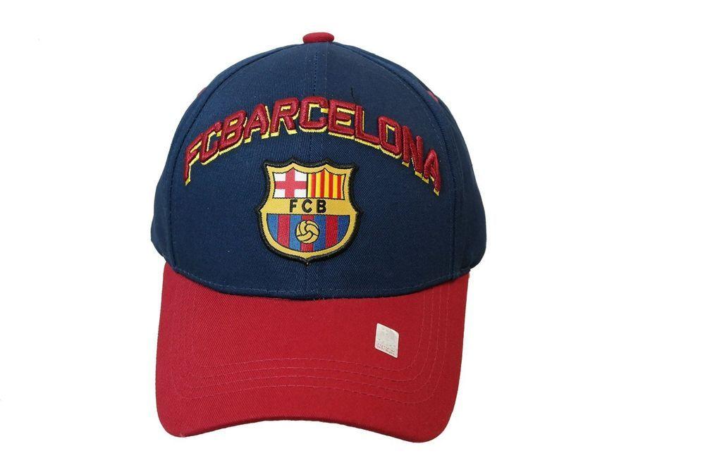 468672cda35 BARCELONA SOCCER HAT CAP FCB OFFICIAL ADJUSTABLE licensed product  RHINOX   BARCELONAFC