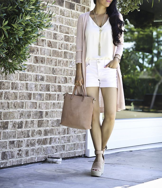 How To Style A Long Cardigan With Shorts Stylish Petite Summer Fashion Outfits Fashion Stylish Petite