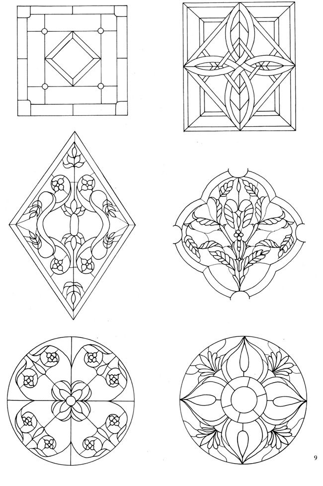 162 Traditional and Contemporary Designs for Stained Glass